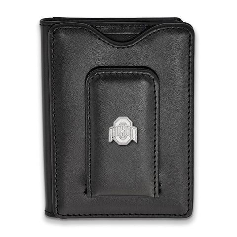Ohio State Buckeyes Black Leather Wallet