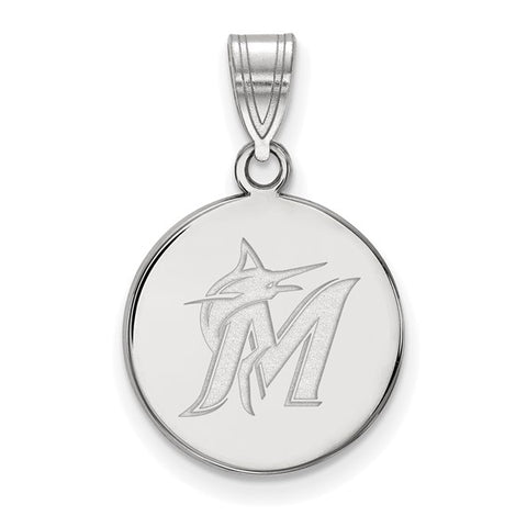 Miami Marlins Medium Disc Pendant