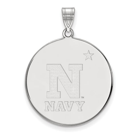 Navy Midshipmen XL Disc Pendant