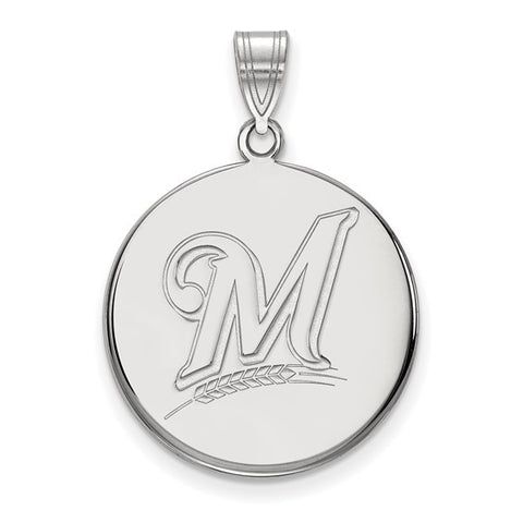 Milwaukee Brewers Large Disc Pendant