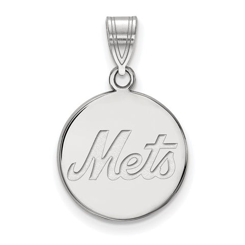 New York Mets Medium Disc Pendant