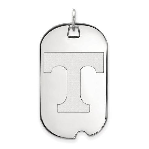 Tennessee Volunteers Large Dog Tag 10k White Gold