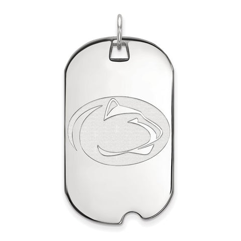 Penn State Nittany Lions Large Dog Tag 10k White Gold