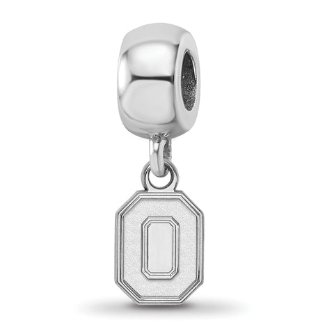 Ohio State Buckeyes Bead Charm XS Dangle Sterling Silver