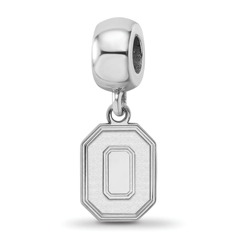 Ohio State Buckeyes Bead Charm Small Dangle Sterling Silver