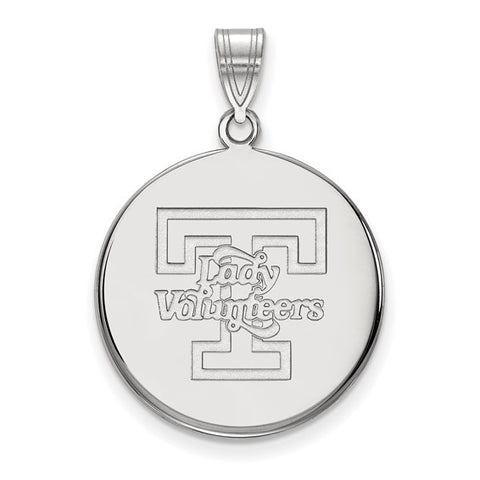 Tennessee Volunteers Large Disc Pendant 10k White Gold