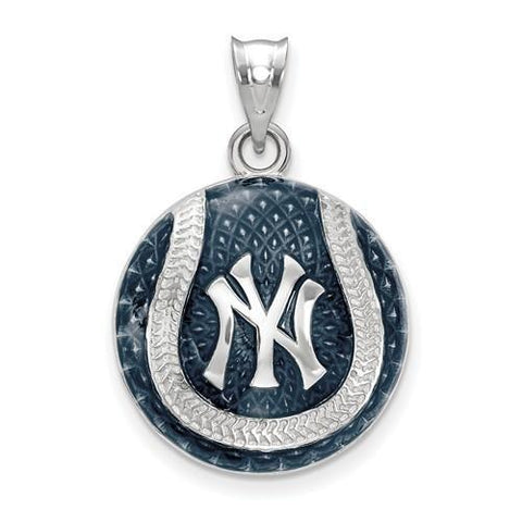 New York Yankees Baseball Pendant - Silver and Enamel