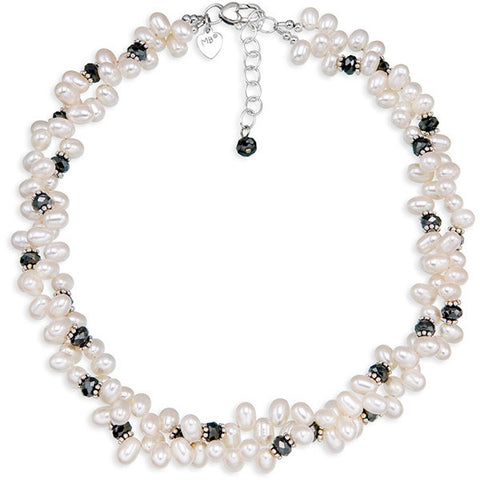 Dancing Pearls & Crystal II Necklace