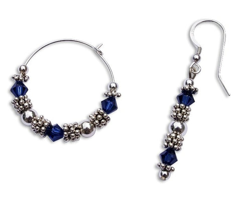 Bali Bead & Crystal Earrings