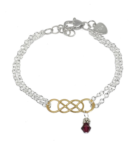 Double Infinity Bracelet - Gold Plate
