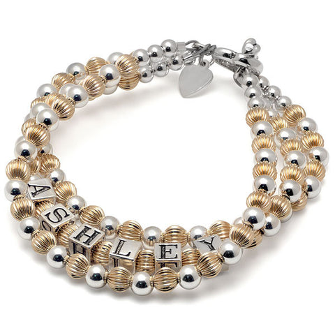 Gold Filled & Silver Mommy Bracelet