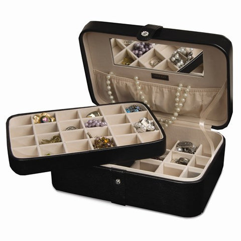 48 Compartment Jewelry Case Black