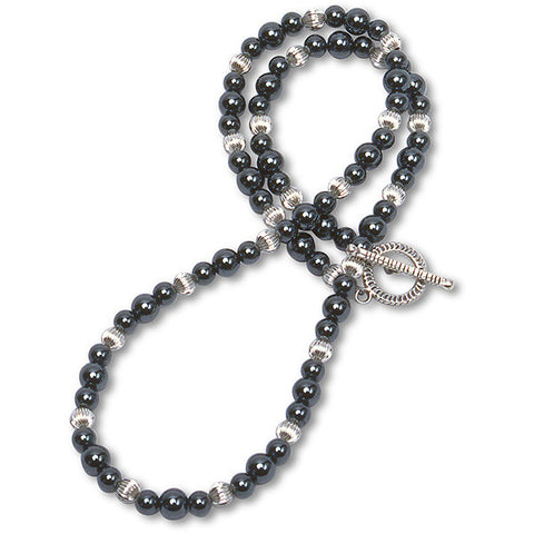 Hematite & Silver Necklace