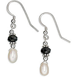 Dancing Pearls & Crystal II Earrings