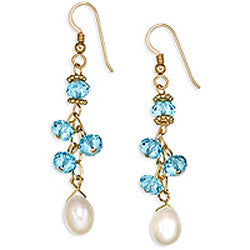 Dancing Pearls & Crystal III Earrings