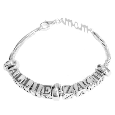 Euro Style Mother Bracelet 2 Names