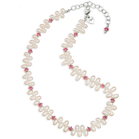 Dancing Pearls & Crystal I Necklace