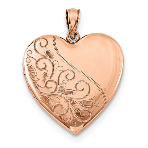 Rose Gold-Plated Heart Photo Locket