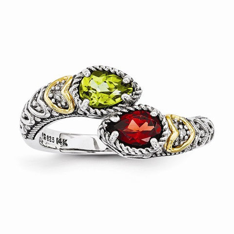 Mother Ring with 6 x 4mm Pear Shaped Stones