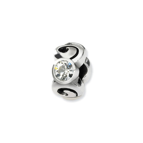 April Swarovski 3-Stone Bead