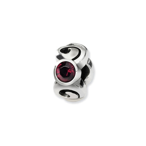January Swarovski 3-Stone Bead