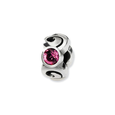 October Swarovski 3-Stone Bead