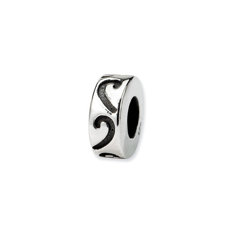 Sterling Silver Bead Spacer/Stopper - Scroll