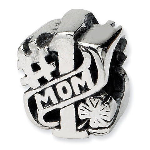 Sterling Silver #1 Mom Bead