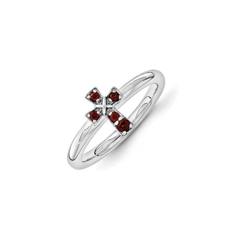 Mothers Stackable Birthstone Ring – Cross