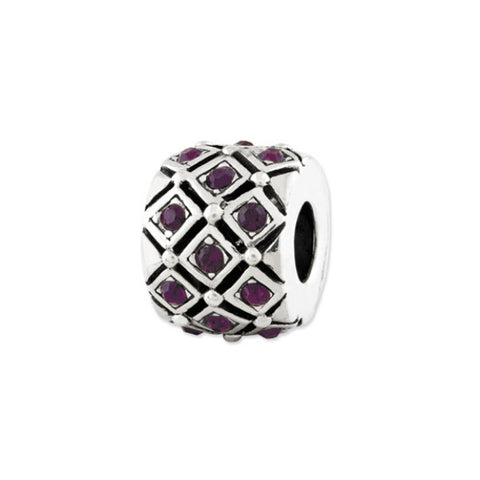 February Swarovski Crystal Bead