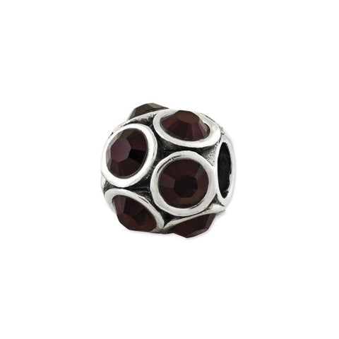 January Swarovski Birthstone Bead