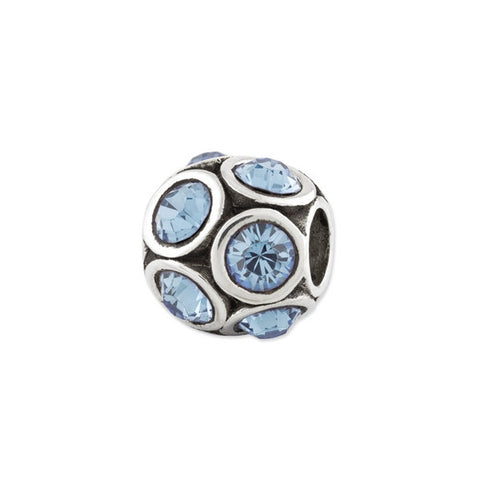 March Swarovski Birthstone Bead