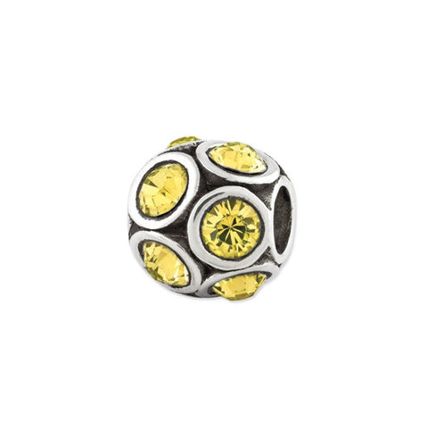 November Swarovski Birthstone Bead
