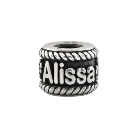 Personalized Name Bead with Flowers