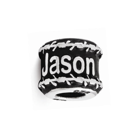Personalized Name Bead with Barbed Wire Border
