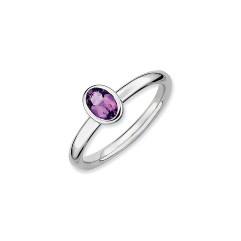 Mothers Stackable Birthstone Ring - Oval