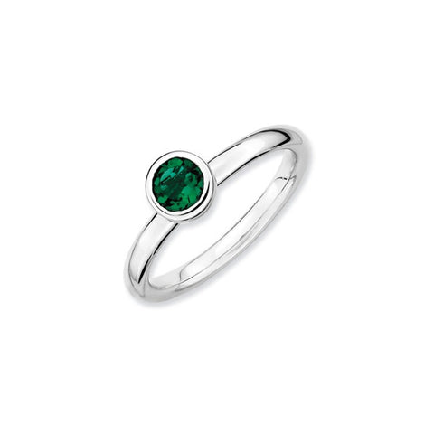 Mothers Stackable Birthstone Ring - Low Profile