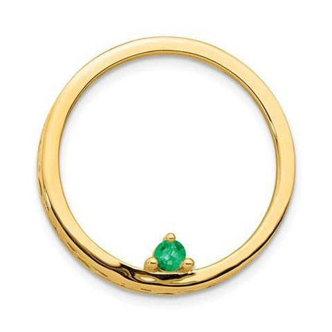 Birthstone Circle Slide Yellow Gold