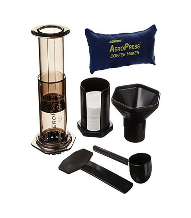 AeroPress Coffee and Espresso Maker with zippered nylon tote bag with bonus 350 Micro Filters (700 Total)