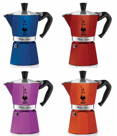 Bialetti 6 Cup Color Moka Pot - 4 Options