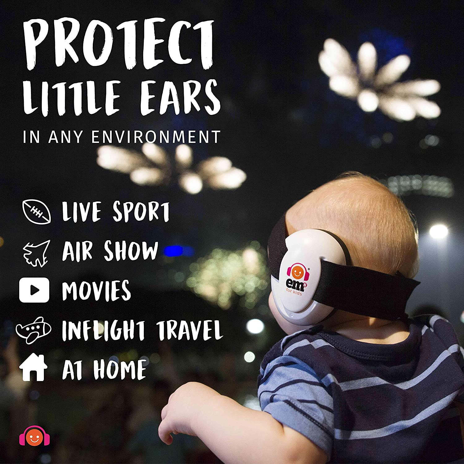 Noise Reduction Earmuffs for Infants & Kids