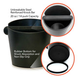 Barista Lab Knock Box, Coffee Grounds Collector and Espresso Puck Bucket for a Clean Countertop
