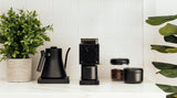 Dark Roast Coffee Grinder: Fellow Ode Brew Home Coffee Grinder with Cafe Style Features like Flat Burrs, Metal Grounds Bin and a Grind Knocker