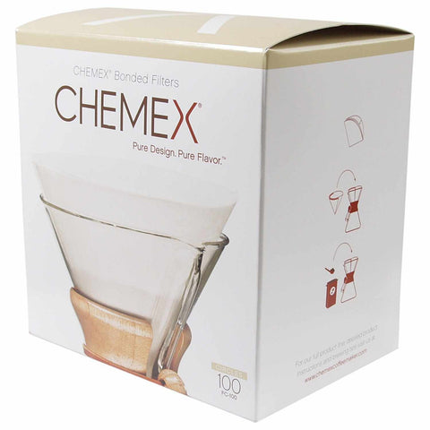 Chemex Pre-Folded Circle Coffee Filter FC-100, 100 Count