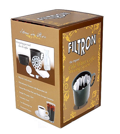 Filtron Cold Brew Coffee Brewer with Extra 2 Pack of Filter Pads