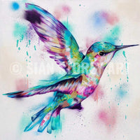 3 hummingbird canvas prints - Sian Storey Art