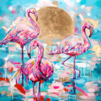 Lagoon - signed canvas print 30 x 30 inches