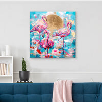 Lagoon - signed canvas print 30 x 30 inches - Sian Storey Art