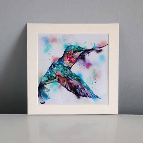 Orchid - 8x8 inch mounted print - Sian Storey Art