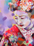 Sakura Collection - buy all 5 paintings and save £260 - Sian Storey Art